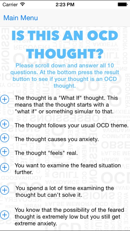 Health ( Contamination ) OCD Recovery Mobile screenshot-3