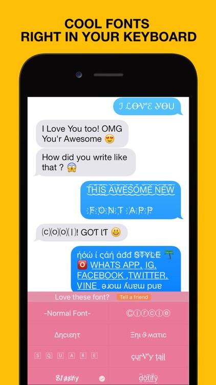 Font App - Better Emoji Font, Custom Keyboard, Cool Text Styles & Symbols Fonts
