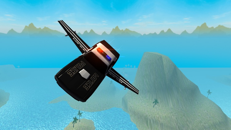 Flying Police Car Driving Simulator Free: Criminal Craft Chase screenshot-3