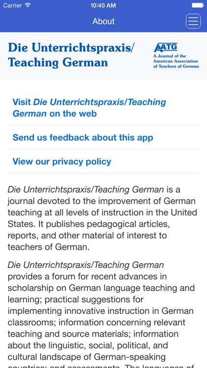 Die Unterrichtspraxis/Teaching German screenshot-2