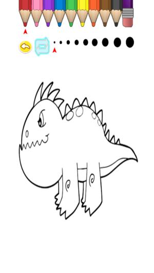 Cocuk Boyama Kitabi Sevimli Karikatur Dinozor Ringo App Store Da