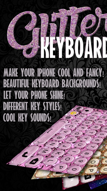 Glitter Keyboard Skins – Customize Keyboards with Glowing Backgrounds, New Emoji.s and Fonts