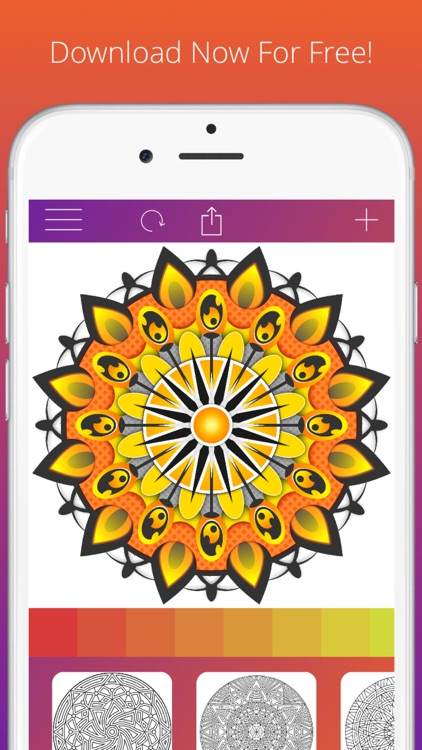 Adult Coloring Book For Adults Free - Mandala Pages, Stress Relief, And Color Therapy screenshot-3