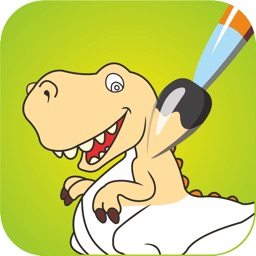 dinosaur coloring book free fun educational dino drawing pages and painting games for preschool toddlers - Free Painting Games For Preschoolers