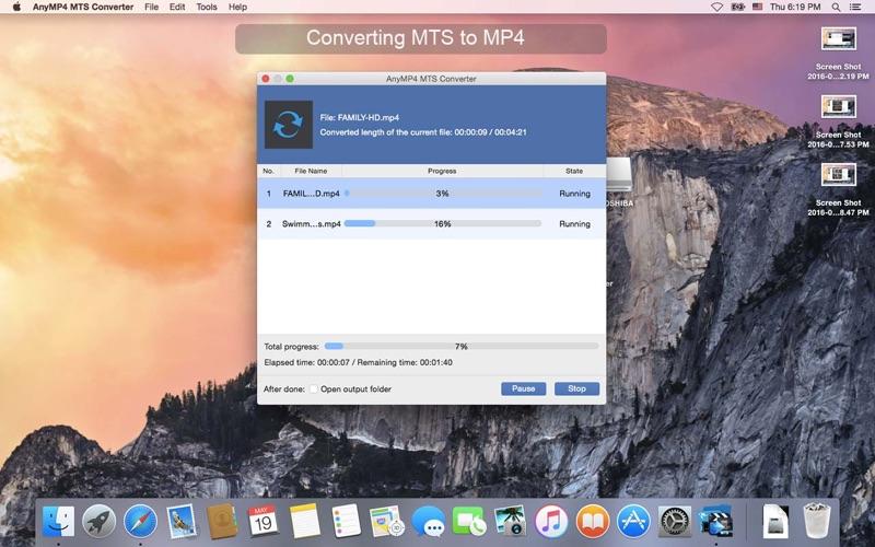 AnyMP4 MTS 변환기 앱스토어 스크린샷