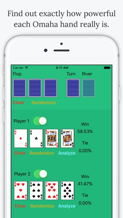 Omaha Poker Calculator - Calculate Odds and Chances % to Win screenshot two