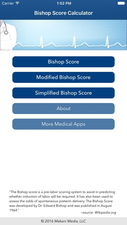 Bishop Score Calculator