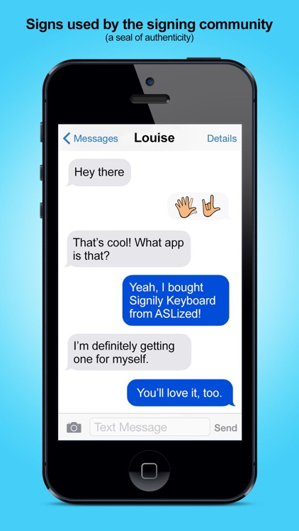 Signily Keyboard - Sign Language Emoji and GIFs! screenshot-4