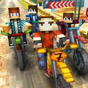 摩托车 探索 赛车 游戏 免费 方块 竞速 三维