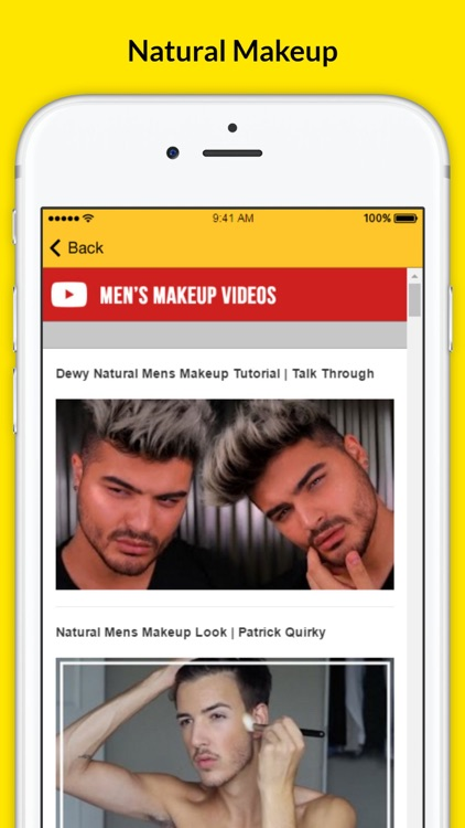 Men's Makeup - Natural Makeup screenshot-3