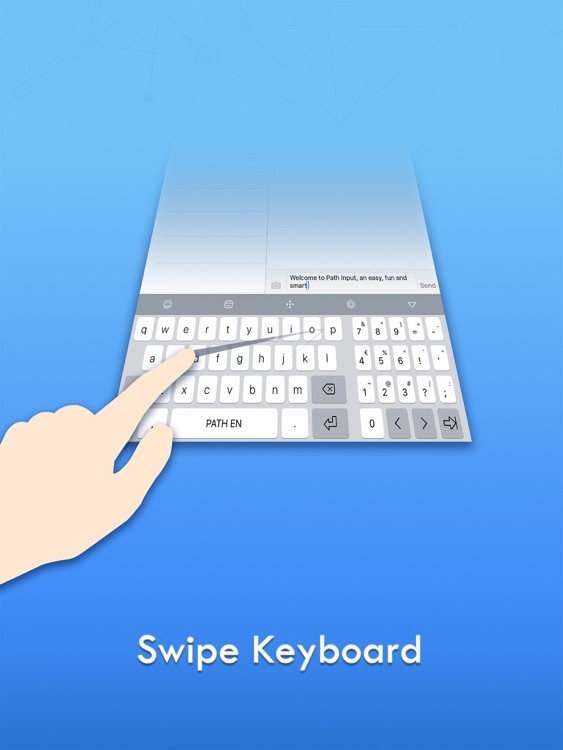 Path Input: A Swipe Keyboard for iPad