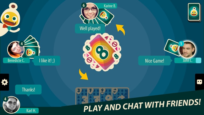 Crazy 8 Multiplayer Card Game Screenshot