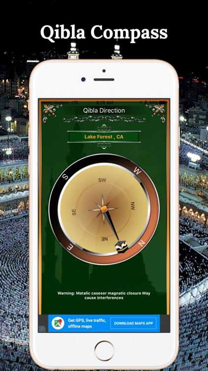 Qibla Compass-Finding Maccah Free screenshot-3