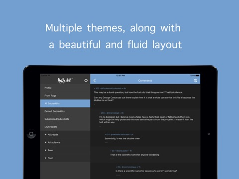 Milkeddit for iPad Screenshots