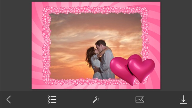 Pink Heart Photo Frame - Make Awesome Photo using beautiful Photo ...