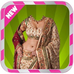 Indian woman Saree Photo Suit : Lehenga Choli Saree Photo Montag Pro