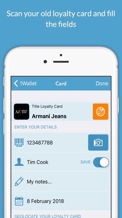 1Wallet - Your Loyalty Cards in Apple Wallet® app image