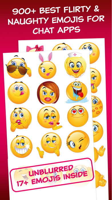 Flirty Dirty Emoticons - Adult Emoji for Texts and Romantic Couples screenshot one