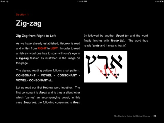The Starter's Guide to Biblical Hebrew