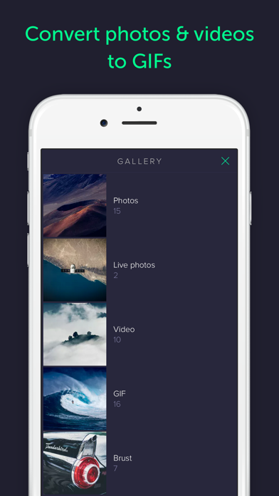 Gifstory - GIF Camera, Editor and Converter of Photo, Live Photo, and Video to GIF