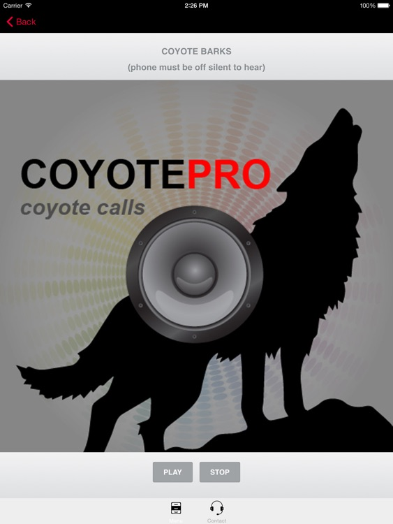 REAL Coyote Hunting Calls -- Coyote Calls & Coyote Sounds for Hunting (ad free) BLUETOOTH COMPATBLE screenshot-0
