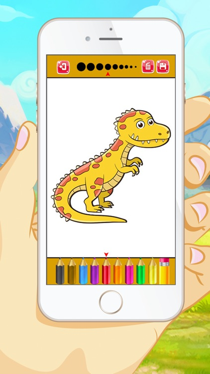 Dinosaur Coloring Book - Educational Coloring Games Free ! For kids and Toddlers screenshot-0