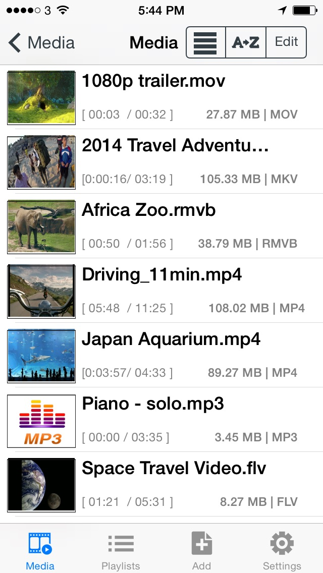 Screenshot for Media Player PRO - Play Mkv,Mov,Mpg,Wmv,Rmvb,Flash,Mp4,Mpeg,Ts,AVCHD video in Azerbaijan App Store