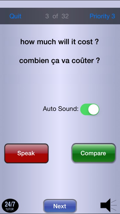 French Phrases 24/7 Language Learning screenshot-4