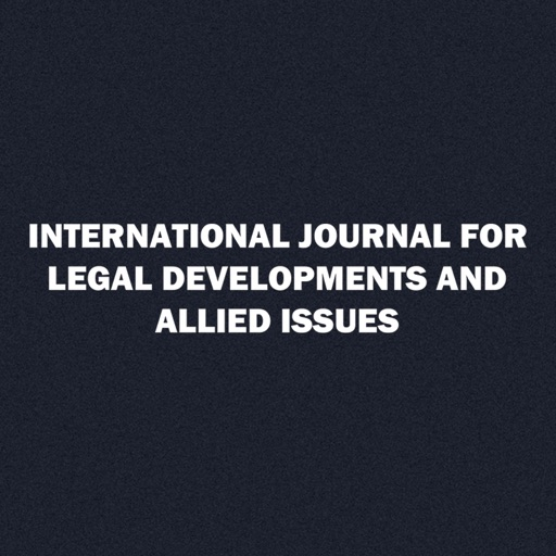 International Journal of Legal Developments And Allied Issues