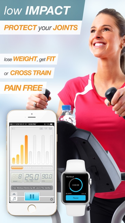 BeatBurn Elliptical Trainer - Low Impact Cross Training for Runners and Weight Loss