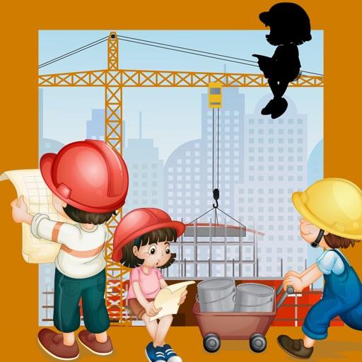 Kinder-Spiel mit Bau-stellen-Autos: die erste Puzzle App für mein Baby