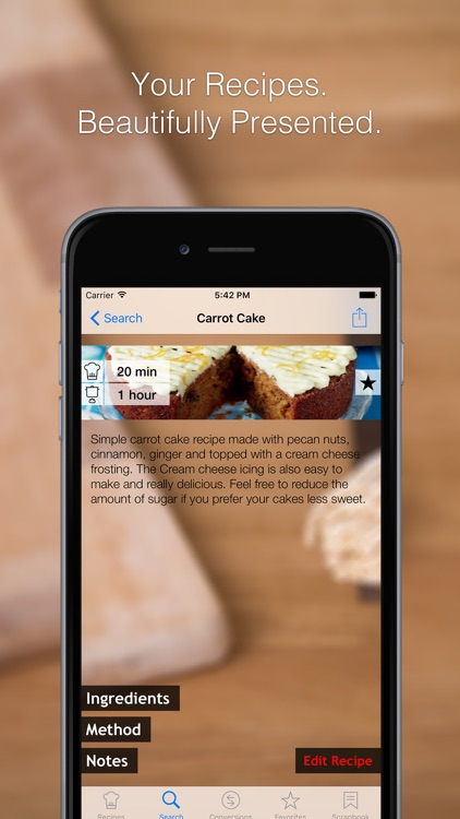 Recipe Box - Your Recipe Cook Book in your pocket, get to your recipes when cooking or baking in the kitchen!