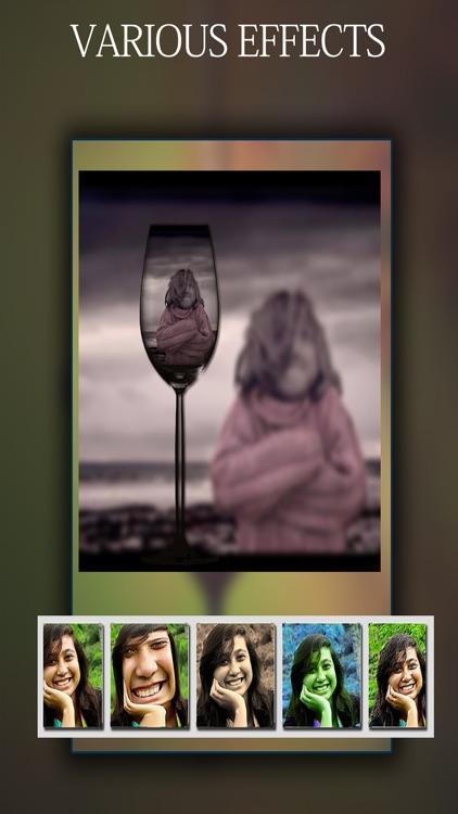 Selfie PIp - Selfie in Selfie Photo Editor To Apply Shape Overlay Effects To Selfies