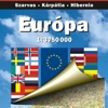 Европа. Политико-автодорожная карта