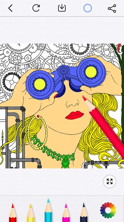 Secret Coloring Book - Free Anxiety Stress Relief & Color Therapy Pages for Adult screenshot-0