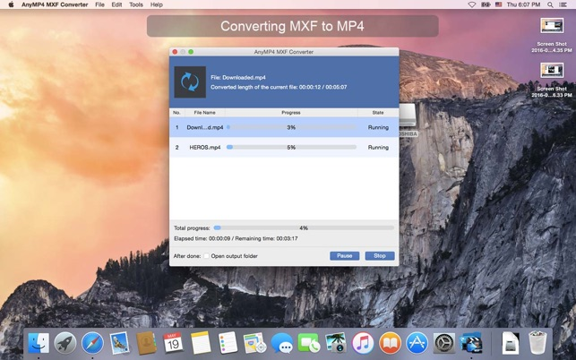 AnyMP4 MXF Converter Screenshot
