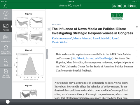 Screenshot of American Journal of Political Science