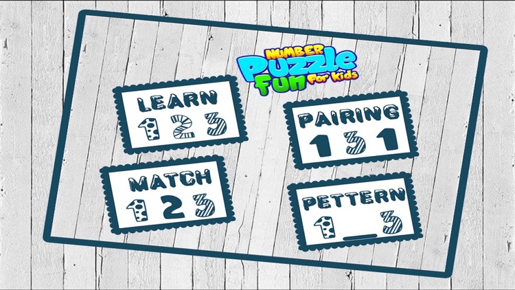 Number Puzzle Fun For Kids