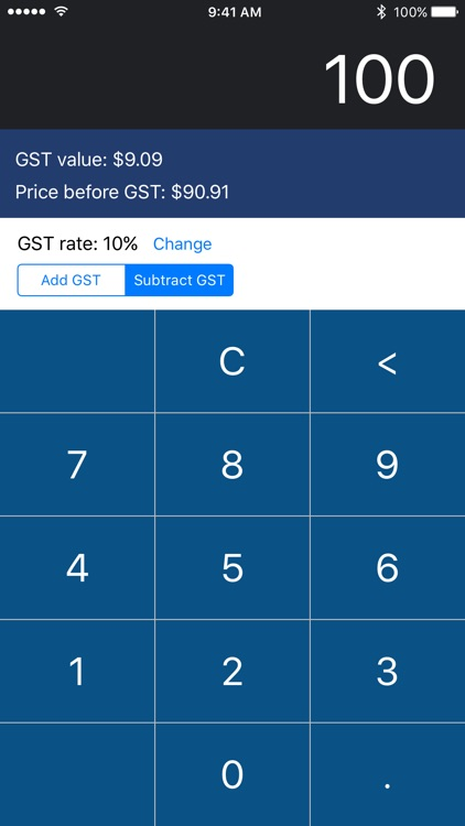 GST Calculator for iPhone and Apple Watch