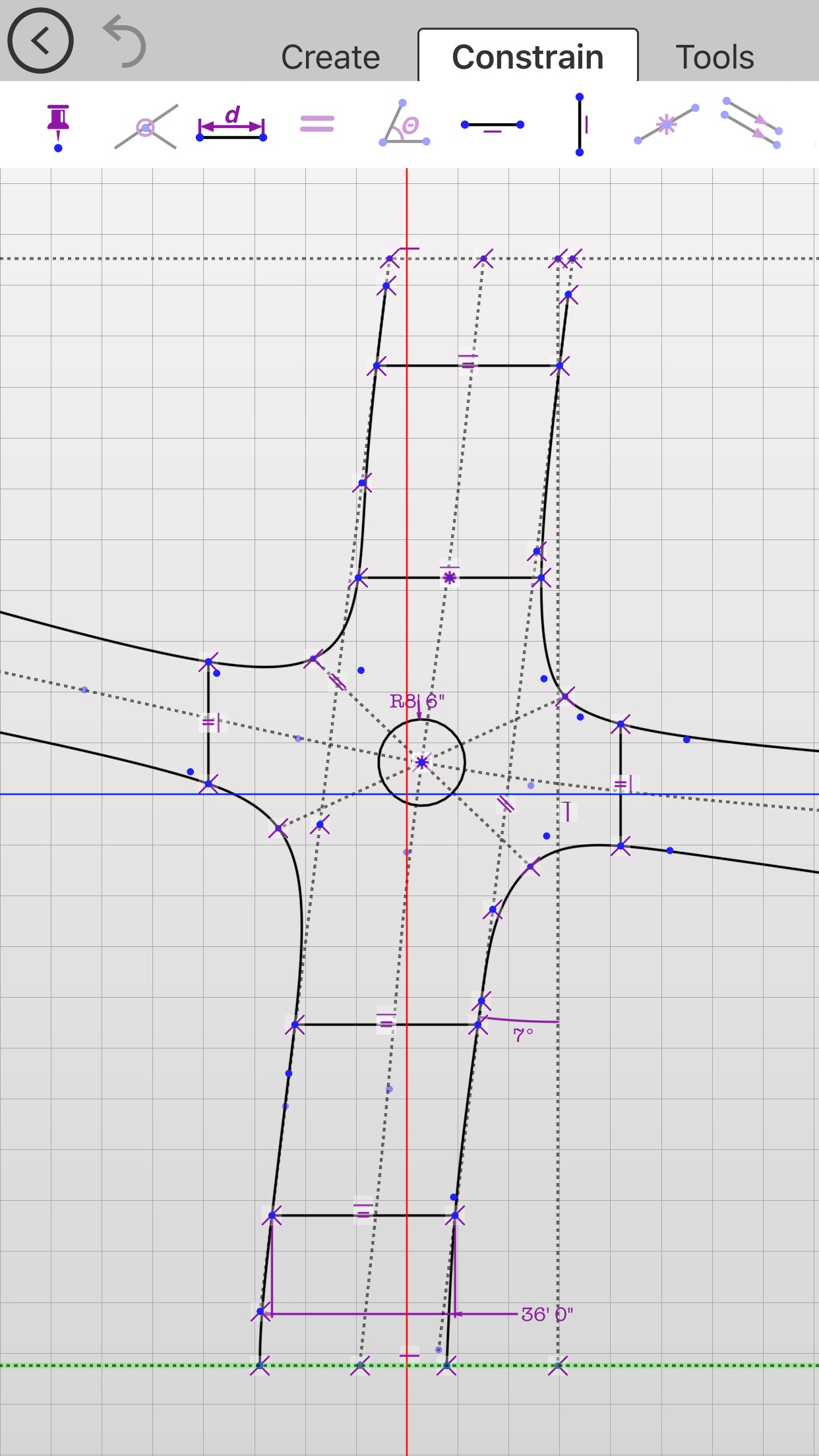 Updraw - create 2D CAD drawings with dimensions Screenshot
