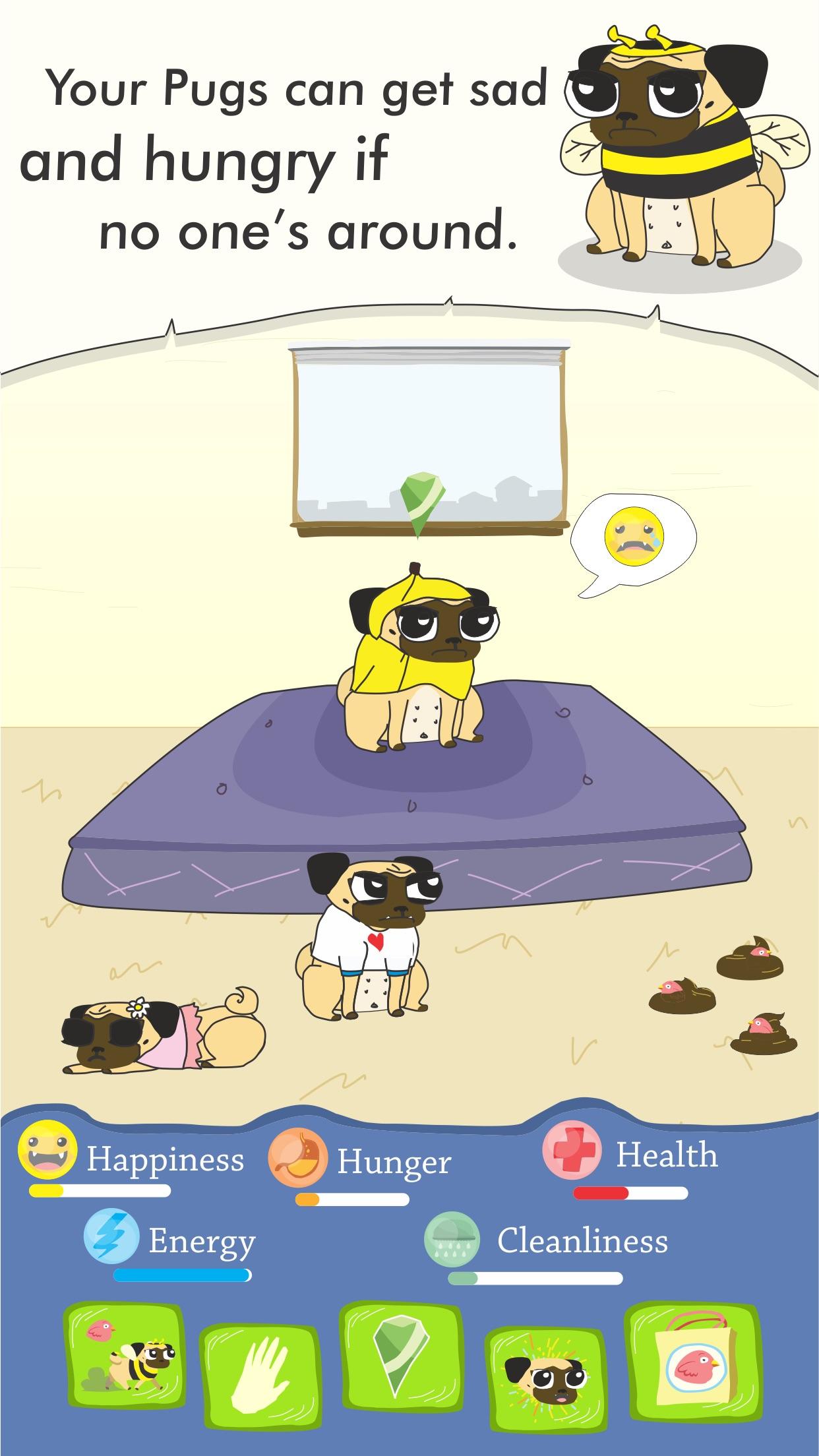 Screenshot do app Growing Pug