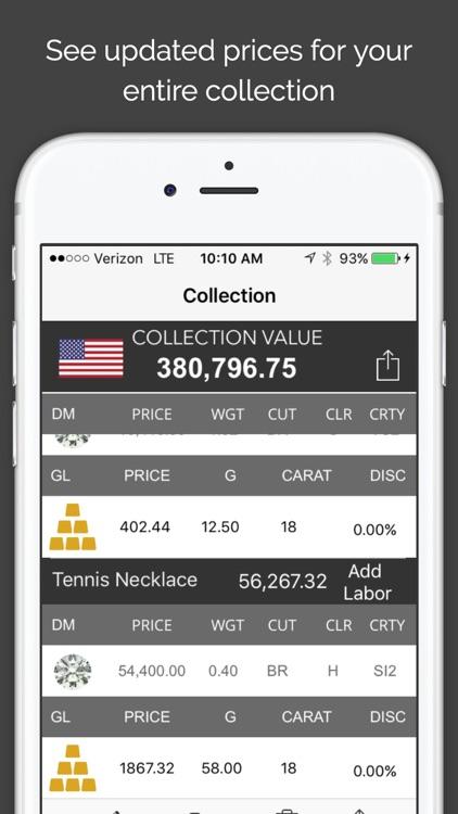 MyJeweler 2 - Diamonds, Jewelry and Metals pricing calculator screenshot-3