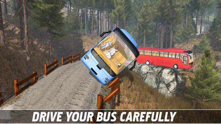 Tourist Bus Off Road Drive Sim screenshot-3