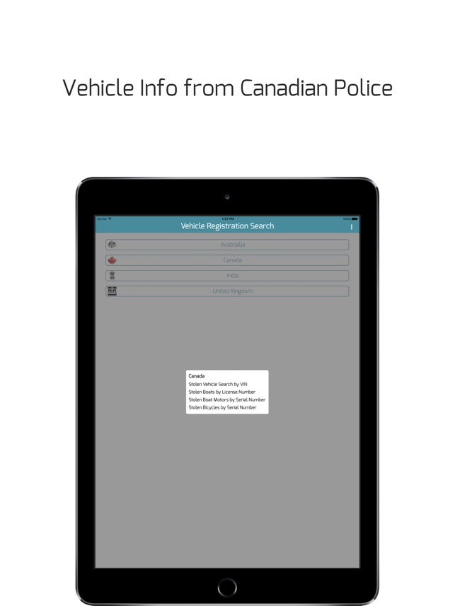 Vehicle Registration Search -detailed car info on the App Store