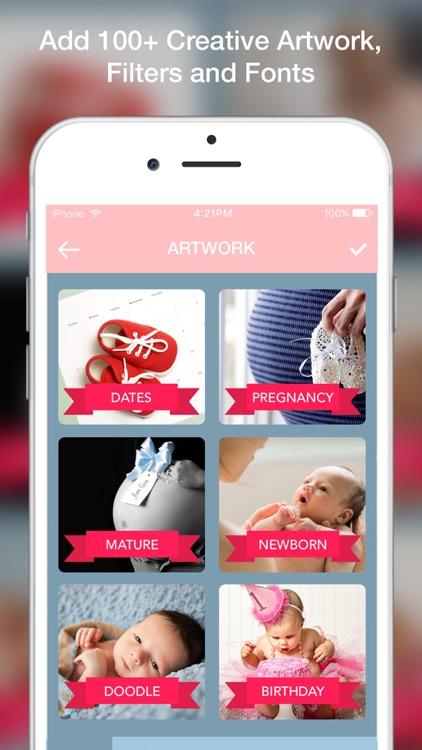 Baby Sticker - Capture Baby Milestones and Pregnancy Milestone to Make Baby Story for Instagram screenshot-4