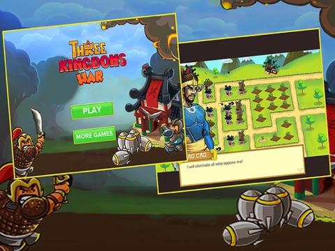 Ipad Screen Shot Three Kingdoms War: -  Heroes  Clash TD  Game 0