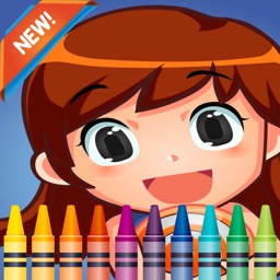 My Little Girl Coloring Book: fun with these coloring pages games free for kids