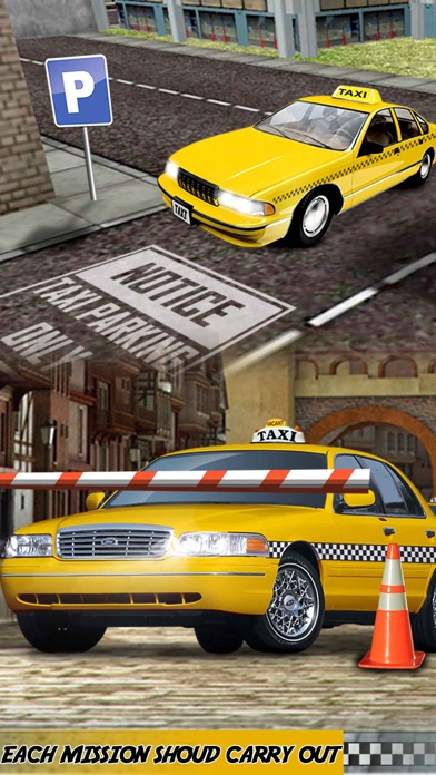 Yellow Taxi Driver Parking - Crazy Cab In New york City Traffic Simulator screenshot one