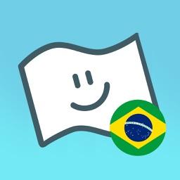 Flag Face Brazil
