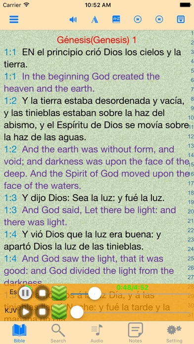 聖經 - 西班牙語和英語對照屏幕截圖1